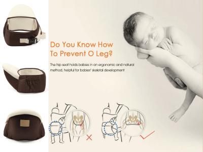 Portabebés de cadera, diferentes posiciones de transporte, bolso incorporado de fácil acceso, cinturón ajustable con soporte lumbar, asiento de cadera para recién nacidos y niños pequeños