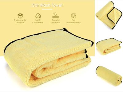 Toalla de limpieza de microfibra de felpa sin bordes multiusos para lavado, secado, detallado del hogar y el automóvil, toalla súper absorbente, paño de limpieza de microfibra reutilizable