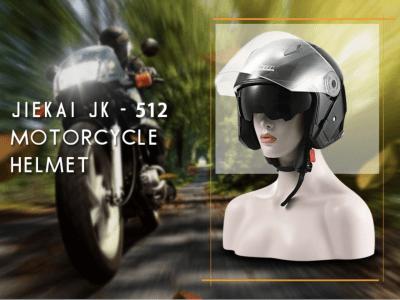 Casco abierto para motocicleta unisex adulto Anti-UV / Plástico ABS / Lente doble, Casco compacto y ligero para motocicleta