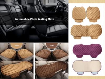 Almohadillas universales para asiento de automóvil de invierno, cojín para asiento de automóvil para uso doméstico, asientos de automóvil, silla de oficina, sillas de balcón