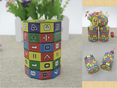 Juguete educativo cilíndrico colorido de aprendizaje de matemáticas para niños, juego digital de descompresión de aprendizaje, rompecabezas de aprendizaje aritmético de matemáticas magnéticas