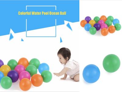 100 piezas ecológico, colorido, suave, plástico, piscina de agua, bola de olas oceánicas, juguetes divertidos para bebés, bolas de aire, deportes divertidos al aire libre