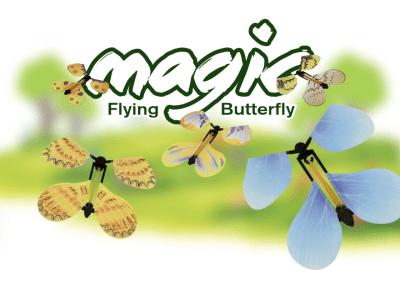 Mariposas voladoras mágicas, juguetes de cuerda sorpresa, juegos de fiesta para niños, mariposa voladora de hadas mágicas, juguete de mariposa de cuerda con banda de goma, 1 pieza