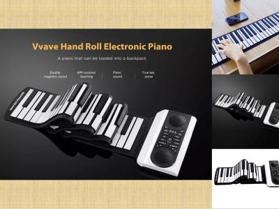 Piano electrónico enrollable, flotante con sonido, teclado electrónico, Piano digital, sonido 128, Rhythm 140, piano electrónico enrollable portátil, instrumento musical