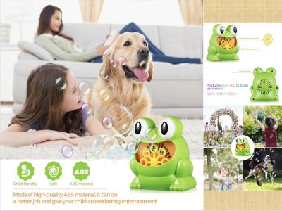 Máquina de burbujas completamente automática con forma de animal, juguete para niños, 500 burbujas por minuto, soplador de burbujas automático, máquina de burbujas portátil para exteriores, interiores