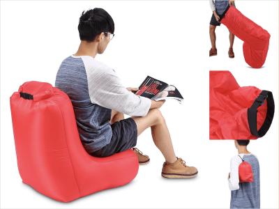 Silla inflable tipo tumbona, estilo reclinable ligero, silla portátil para exteriores, diseño a prueba de agua y antifugas de aire, silla duradera para jardín, playa, camping, picnics, sala de estar