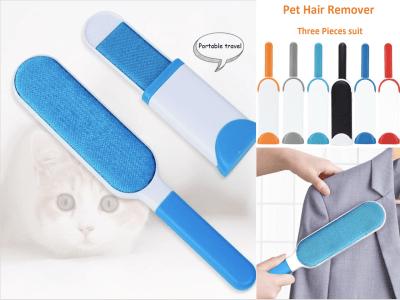 Removedor de pelo para mascotas. Limpieza de pelo de mascotas. Removedor de vello de doble cara. Principio de adsorción electrostática, fácil de eliminar el pelo de mascotas, el polvo