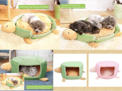 2 en 1 Cama y Casita Plegable para Perros o Gatos. Cama Suave Mascotas. No es solo una casa para mascotas, sino también una cama que satisface las necesidades de las mascotas en diferentes estaciones