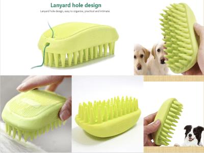 Cepillo de masaje para perros. Equipo de baño. Material de alta calidad. Diseño único. Diseño de orificio para cordón. Material TPR. Diseño de diente grueso. Durable y práctico