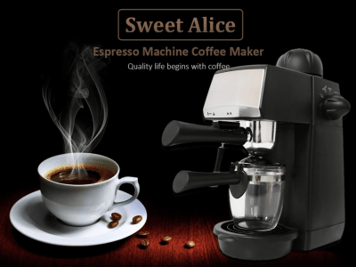 Máquina de café espresso semiautomática de vapor de 240 ml, máquina de café expreso, cafetera latte y capuchino con espumador de leche, bomba italiana, taza individual