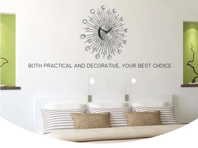 """Reloj de pared decorativo de vidrio y metal. Arte para el hogar. Diámetro 13 """". Apto para montar en cualquier posición. Más que un reloj"""