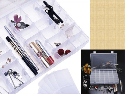 Caja organizador de 28 rejillas. Accesorios de pintura de diamantes de plástico. Caja de almacenamiento de anzuelos de pesca, organizador de joyas y abalorios, manualidades