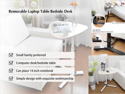 Mesa de altura ajustable, escritorio, soporte para computadora portátil, mesa auxiliar para sofá / cama, soporte para mesa de hospital, mesa extraíble para computadora portátil, mesita de noche