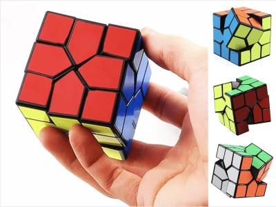 Nuevo cubo mágico irregular, cubo Redi de rotación creativa, cubo de rompecabezas de velocidad suave, juguete educativo para adultos y niños, rompecabezas de color del cubo Redi sin pegatinas
