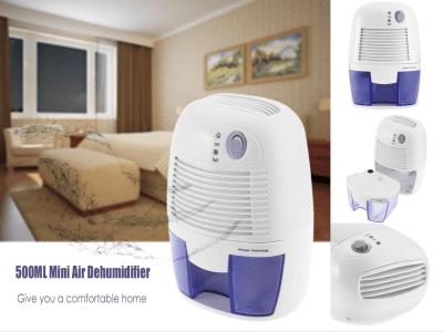Mini deshumidificador portátil de 500ml, secador de aire eléctrico silencioso, antihumedad, compacto y portátil para luchar contra alta humedad en el hogar, cocina, dormitorio, sótano, oficina, etc.