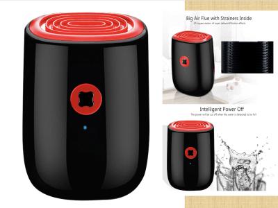 Deshumidificador de aire. Eléctrico, elegante de 800ml, mini deshumidificador doméstico silencioso de 22 W, limpieza de aire portátil, secador de aire, absorbe la humedad, deshumidificador