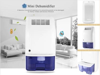 Deshumidificador portátil, secador aire, eléctrico, tanque agua extraíble de 700 ml. Indicador LED. Diseño silencioso. Perfecto para cocina, dormitorio, oficina, armario, armario, etc.