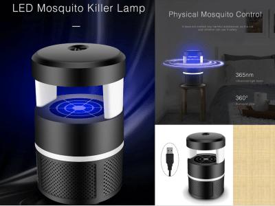 Lámpara LED Mata Mosquito, Uso doméstico. Luz Ultravioleta. Sencillo y Rápido. Ventilador 9 aspas. Inhalación de ciclones. Red embudo para evitar que el mosquito se escape. El Mosquito queda atrapado