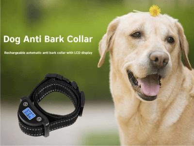 Collar antiladridos para perros. 5 niveles de sensibilidad. Pantalla LCD. Collar reflectante. Diseño inteligente, reproducirá el tono cálido cuando su perro ladra. Recargable