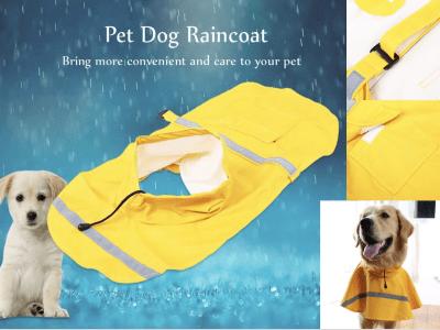 Chaqueta impermeable reflectante para perros. Ajustable, con gorro, Ideal para tu mascota. Traiga más comodidad y cuidado su mascota. Aumente visibilidad para mantener segura su mascota. Talla XS