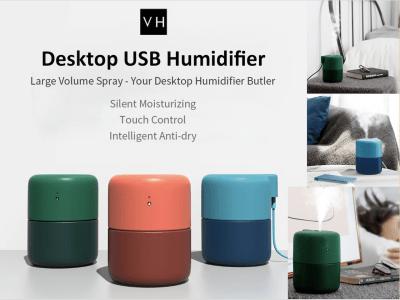 Difusor de sobremesa VH. Humidificador USB. Spray de gran volumen. Su mayordomo humidificador de escritorio. Hidratante, Silencioso. Control táctil. Antiseco, inteligente. 420ml de gran capacidad