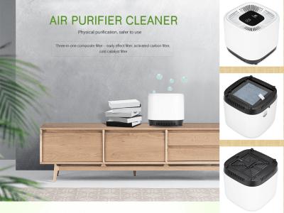 Purificador de aire portátil / limpiador de esterilización de aniones de escritorio, elimina el 99,97 por ciento del polvo, polen, humo, olores, esporas de moho y caspa de mascotas, etc.