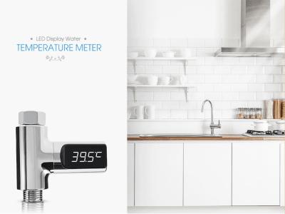 Medidor de temperatura de agua con pantalla LED para el cuidado del bebé. No se requieren pilas. Rotatorio, satisface diferentes necesidades, 360º. Sensor de temperatura alta precisión