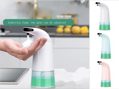 Dispensador de jabón automático inteligente. Espuma automática por inducción de rayos infrarrojos. Capacidad de 250 ml. Duradero. Sin contacto. Más sanitario. Burbuja mágica divertida