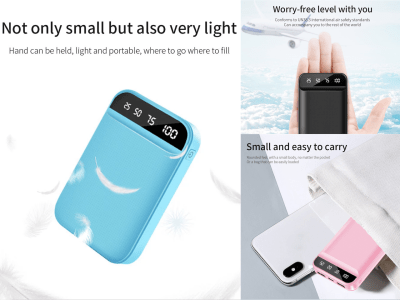 30000Mah Portable Battery, Small, Large Capacity, Easy to Carry, Plug and Play without Buttons, Android and iPhone Compatible, LED Display, Quick Charge, 4 Colors Available