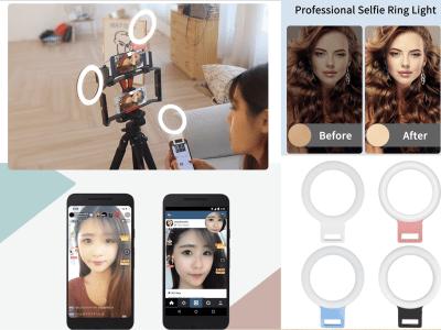 Anillo Luz Selfies, Iluminación asistida por 36 LED, Mejoras Temporizador Automático Nocturno, Adecuado cualquier Teléfono Móvil, Tablet y fotografía, 2500-7000K, 3 Modos de Luz, YouTube, Tik-Tok