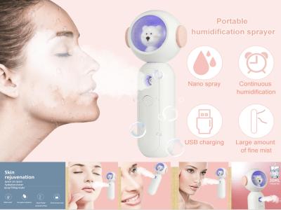 Oso Nano Spray, Rociador Humeante, Humidificador de Mano, Hidratante, Portátil, Instrumento de Belleza, Serpentina Facial, 2 Colores Disponibles, Instrumento de Rehidratación Espacial