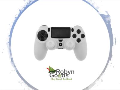 Funda Silicona para PS4 / PS4 Pro / PS4 Slim, DualShock 4, Impresión Transferencia de Agua, Funda Protectora Silicona Duradera, Alta Calidad, + 2 Empuñaduras, mejora la experiencia al usar Stick