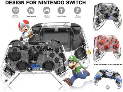Mando Inalámbrico para Nintendo Switch y Switch Lite, Pro Switch Controller, Switch Controller Gamepad Joypad, Joystick con Sensor 6 Gyro Axis, Turbo Función Ajustable y Vibración de Motor Dual