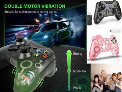 Mando para Xbox One / One S / One X / One Elite, PS3 / PS4, PC, 2.4 GHZ, Mando Inalámbrico para juegos, Vibración Dual, Batería de 600mah, Diseño Ergonómico, Respuesta Rápida, hasta 10 horas uso