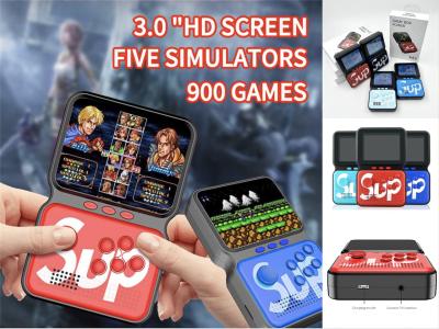 """Consola de Juegos Portátil SUP M3, Reproductor de Juegos Portátil Incorporando 900 juegos clásicos, 3.0"""" HD, Sistema de Juegos Retro, 16 bits, batería 2020mah, 10 horas de juego, Conexión de TV"""