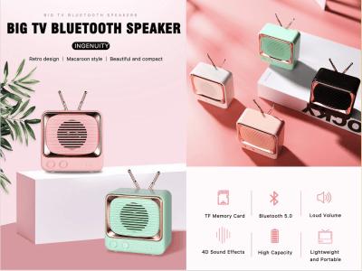 Altavoz Bluetooth 5.0 Portátil, Diseño Retro, Inalámbrico, Mini Altavoz Vintage con graves profundos, Efectos estéreo para viajes, hogar, exteriores, tiempo de reproducción 8-12 horas, Bluetooth 5.0