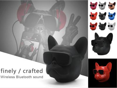 Bulldog Altavoz Bluetooth Portátil, Altavoces Salida Estéreo 8W, Altavoz Inalámbrico Artístico para fiestas en casa, Café Bar, Compatible con PC de escritorio / Laptop / Móvil Android e IOS, 9 colores
