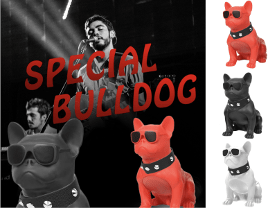 Bluetooth 5.0 Speakers French Bulldog, Art Bluetooth Speakers, Portable Bluetooth Speakers, Suitable for Mobile Phones Android and IOS, Laptop, Tablets, TV, 3 Colors Available