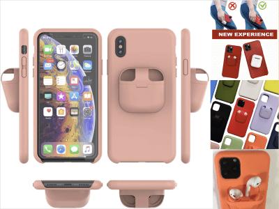 Funda Combo para iPhone y AirPods, Diseño Delgado y Duradero 2 en 1, Diseñado para iPhone, Protege tu Teléfono y Almacena tus AirPods, Elige tu modelo de iPhone, Alta Calidad, 11 colores disponibles