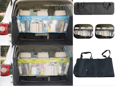 Set 2 Pieces Organizer Net, Universal Car Seat Storage Mesh. Helps organize small items and keep your car tidy. 3 colors available
