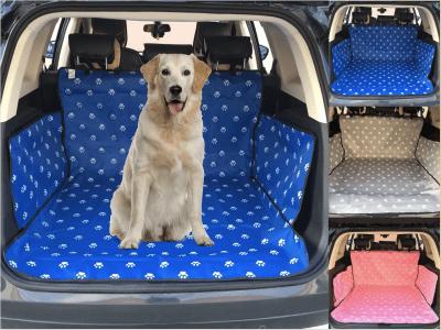 Funda de Tela Impresa Oxford 600D, Impermeable para Mascotas, Perros, Gatos, Protector Maletero, Manta para Mascotas, Ajustable, Resistente al Agua