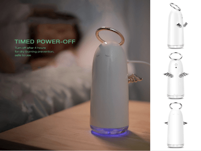 Humidificador Aromaterapia 230 ml, Función Luz Nocturna Colorida LED, 2 Modos Pulverización, Hogar, Oficina. Luz de ambiente colorida Apagado programado. Potente humificador. Mute humidificación 30db