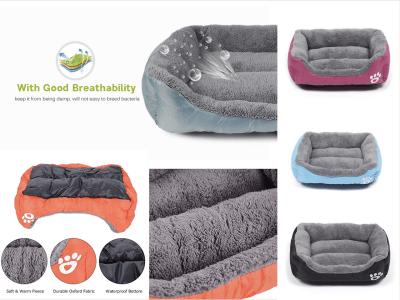 Cama Cálida para Perros y Gatos, Ultra suave y Resistente al Agua, se adapta a la mayoría de Mascotas, Cama Mascotas, Lavable, Multicolor, Tamaño M (54x42cm)