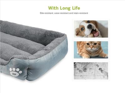 Cama Cálida para Perros y Gatos, Ultra suave y Resistente al Agua, se adapta a la mayoría de Mascotas, Cama Mascotas, Lavable, Multicolor, Tamaño L (66x50cm)