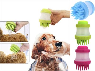 Set 2 Piezas, Cepillo de Baño para Mascotas, Cepillo de Silicona, Descontaminación, Limpieza del Cabello, Baño de Mascotas, Herramienta para el Cuidado de Mascotas, Fácil de usar