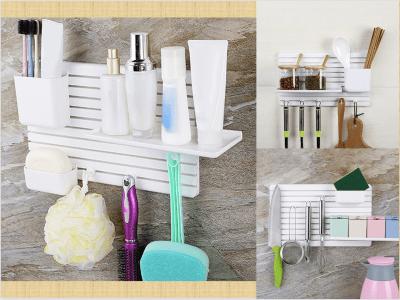 Estante de almacenamiento sin taladros de bricolaje. usos múltiples. creativo. Utilicelo en su baño, Cocina, etc. Fácil de instalar