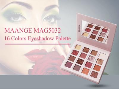 Paleta de sombras de ojos de alta calidad con etiqueta privada Pink Series de 16 colores con espejo, múltiples colores, amplias aplicaciones, sombra de ojos de alta calidad