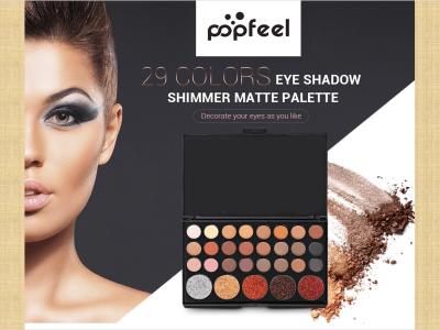 Paleta portátil de maquillaje mate con brillo de sombra de ojos de 29 colores, maravillosos 29 colores que incluyen sombras de ojos mate y brillante. Fácil de combinar con tu look