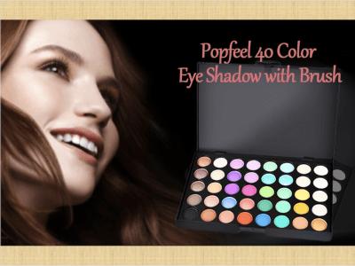 Sombra de Ojos con Mate Nacarada de 40 Colores con Pincel, Fina y Suave, se Aplica Uniformemente, Fórmula de Aceite Suave que no Irrita los Ojos, Color Metálico y Brillante