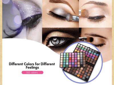 Paleta de sombras de ojos de 162 colores Juego de maquillaje en polvo con brillo mate, Maravilloso 162 a todo color incluye sombras de ojos mate y brillantes, fáciles de combinar con tu apariencia
